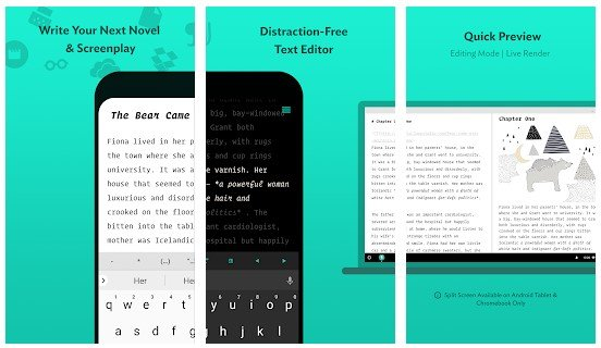 apps for writers android