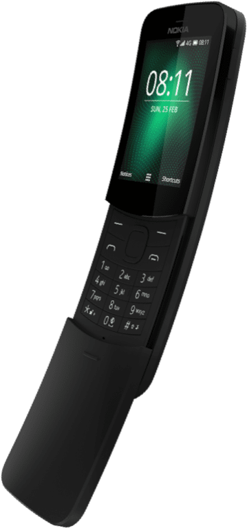 Nokia 8110 4G - Nokia Just Launched Nokia 1, Nokia 7 Plus, Nokia 6, Nokia 8810 4G And Nokia 8 Sirocco