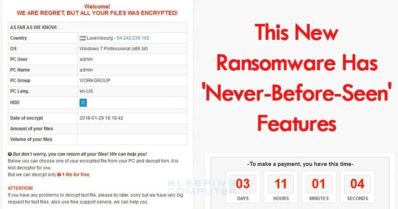 OMG! This New Ransomware Has 'Never-Before-Seen' Features