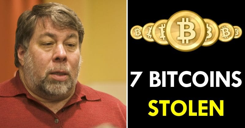 Steve Wozniak Says Someone Stole 7 Bitcoins From Him
