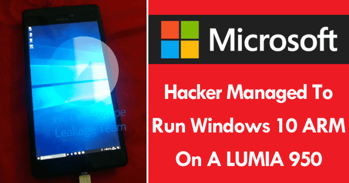 This Hacker Managed To Run Windows 10 ARM On A Lumia 950