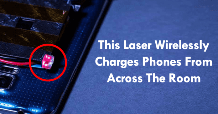 This Laser Wirelessly Charges Phones From Across The Room