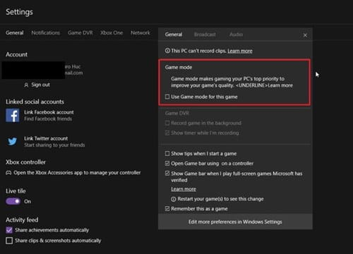Use Game Mode In Windows 10