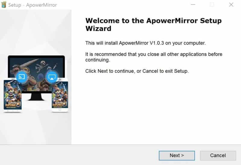 Install the ApowerMirror desktop client