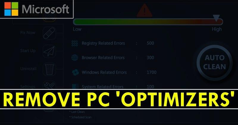 Windows 10's Antivirus To Start Removing PC 'Optimizer' Scareware