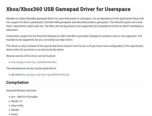 Installing the XboxDRV Driver