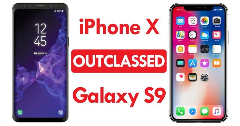 iPhone X Outclassed Samsung Galaxy S9 In Performance Tests