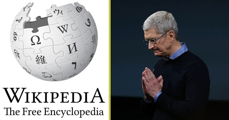 Wikipedia: Apple Exploiting The Service Without Donating A Single Penny