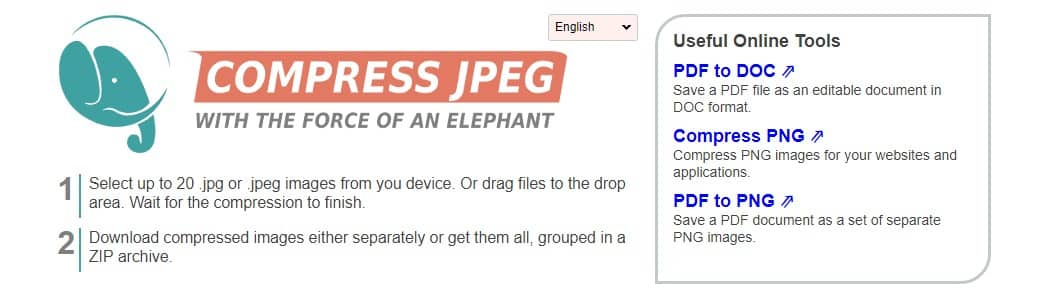 Using Compress JPEG