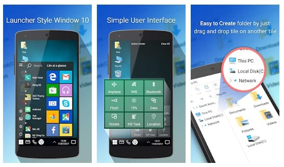 Android Windows 10 Launcher