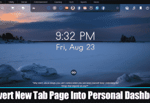 How To Convert New Tab Page Into Personal Dashboard In Chrome