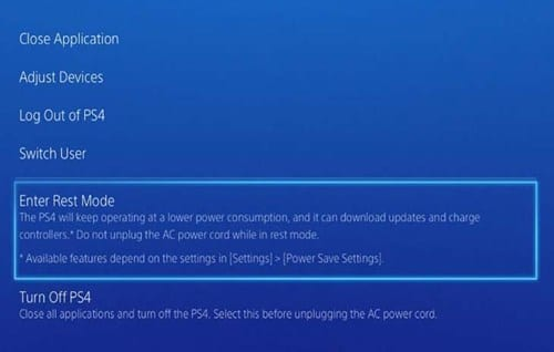 Download PlayStation 4 Games in Rest Mode