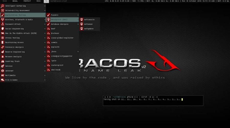 Dracos Linux - Top 25 Best Operating Systems For Hackers 2018