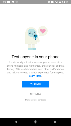 Facebook 4 - Facebook Collected Calls, Text Message Data For Years From Android Phones