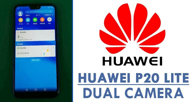 Huawei P20 Lite Appears In Blue Colour