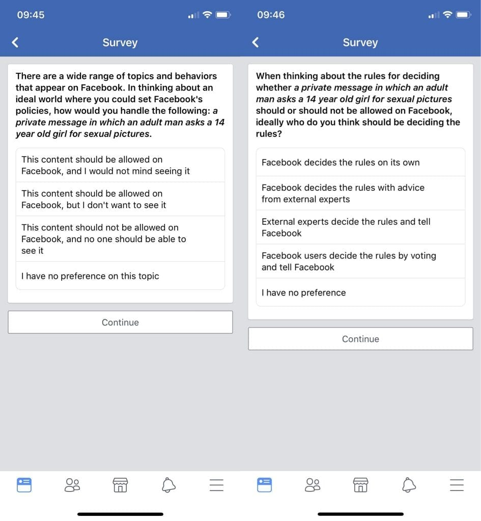 IMG 1 4 945x1024 - Facebook Survey: Should Men Be Allowed To Seek Abusive Photos From 14-Year-Old Girls