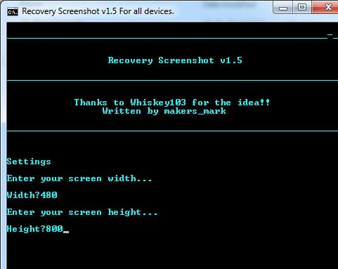 Take Screenshots in Recovery Mode on Android