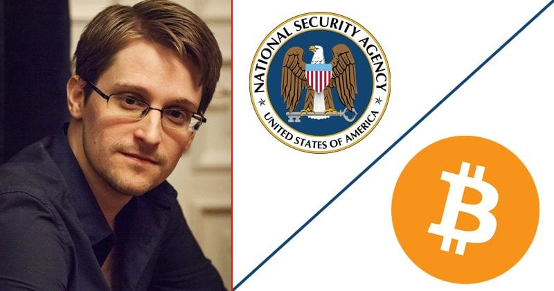 Edward Snowden: The NSA Has Been Tracking Bitcoin Users