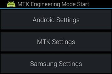 Using MTK Engineering Mode