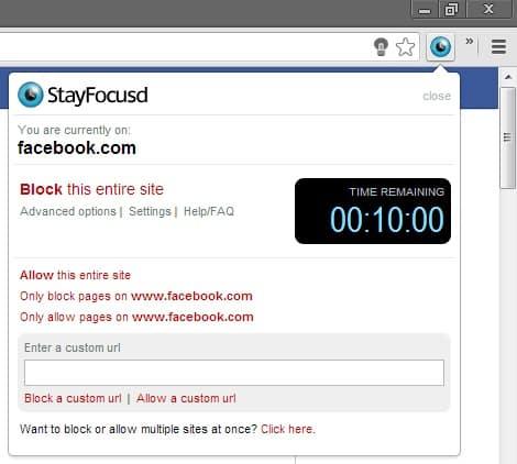 Using StayFocusd