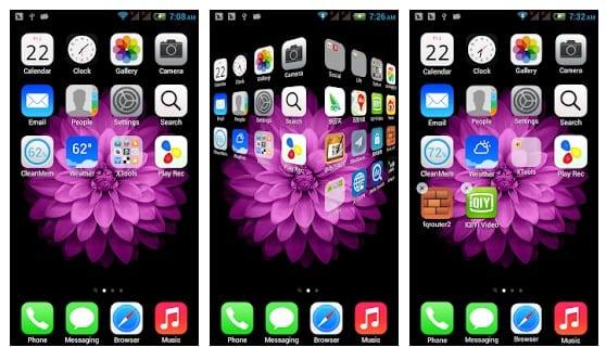 Transformez Android en iPhone