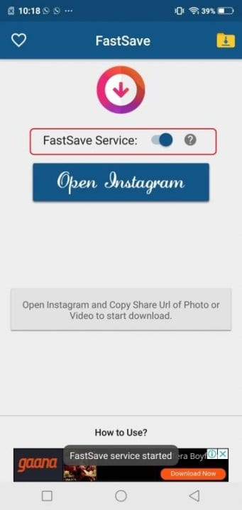 Using FastSave for Instagram
