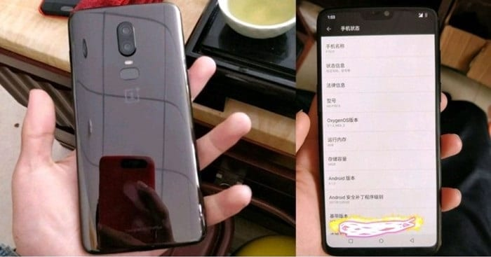 IMG 2 - OnePlus 6 Leaks In Real-Life Image With iPhone X-Like Notch