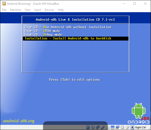 Install Android in Virtual Machine