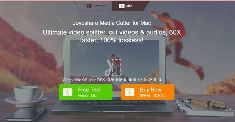 Joyoshare 4 - Joyoshare Media Cutter for Mac: A Convenient Media Cutter For Mac