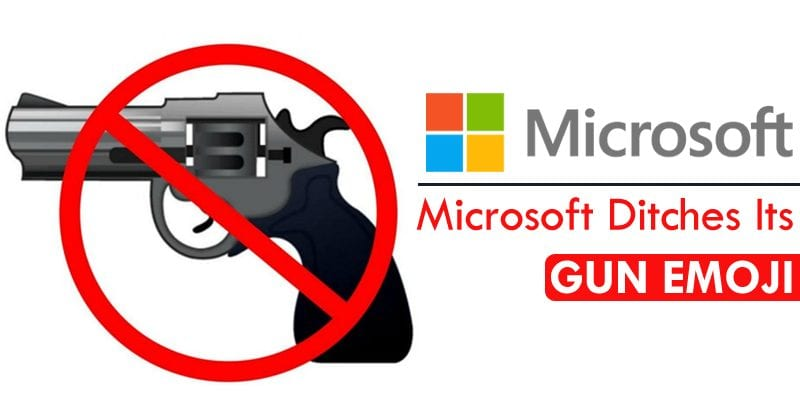 Microsoft Finally Ditches Its Gun Emoji, Following Google, Facebook And Apple