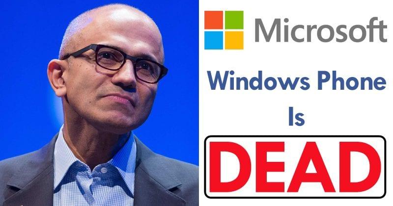 Microsoft: No More Windows Phones Left
