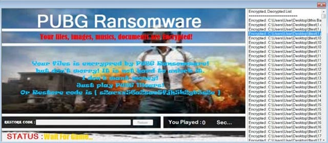 PUBG RANSOMWARE - This Ransomware Will Lock Your Files Unless You Play This Game!