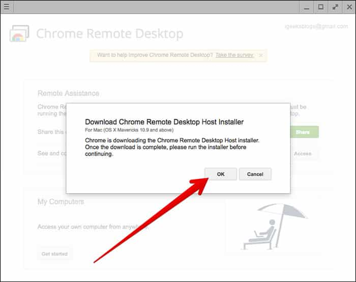 Using Chrome Remote Desktop