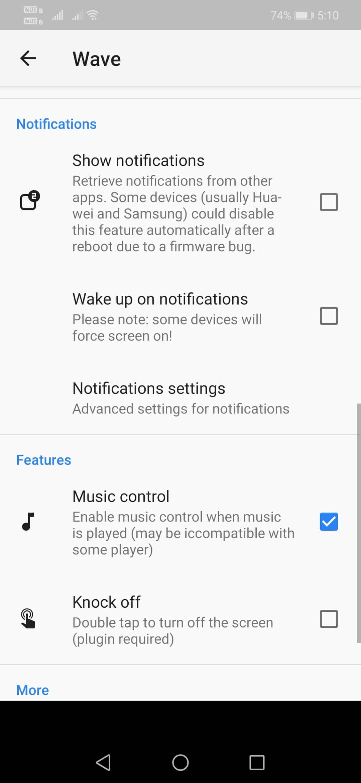 Using Wave - Customizable Lock screen