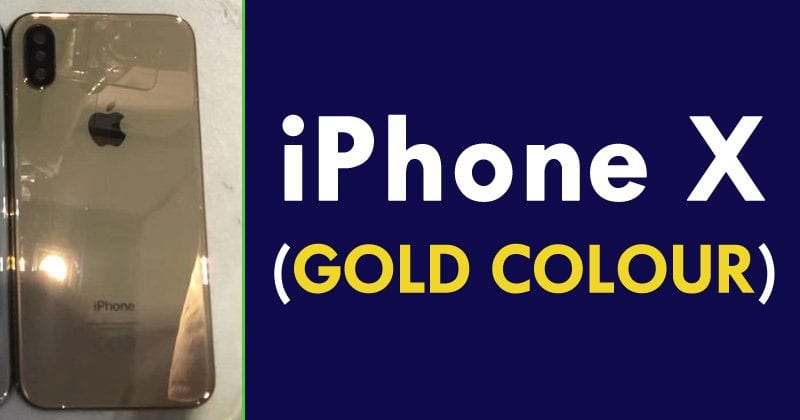 WoW! iPhone X In Gold Revealed By FCC