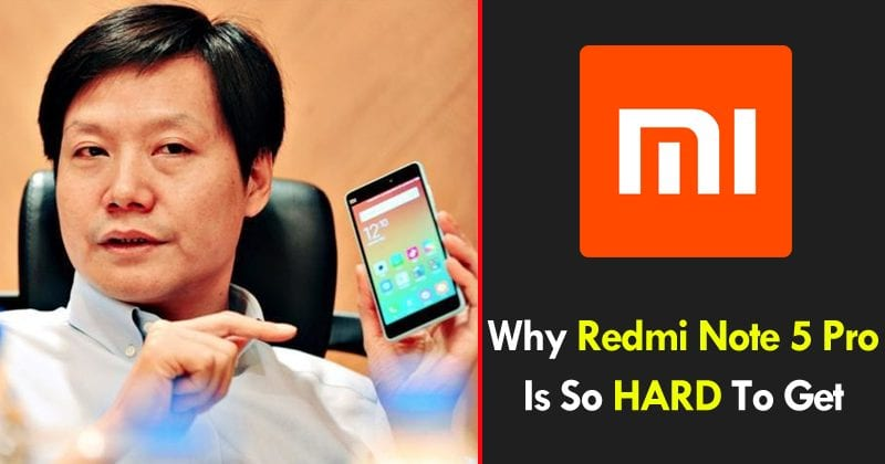Xiaomi CEO Explains Why Redmi Note 5 Pro Is So Hard To Get