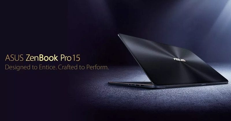 ASUS Unveils Ultra-Thin ZenBook Pro 15 With Core i9, 4K Display, GTX 1050