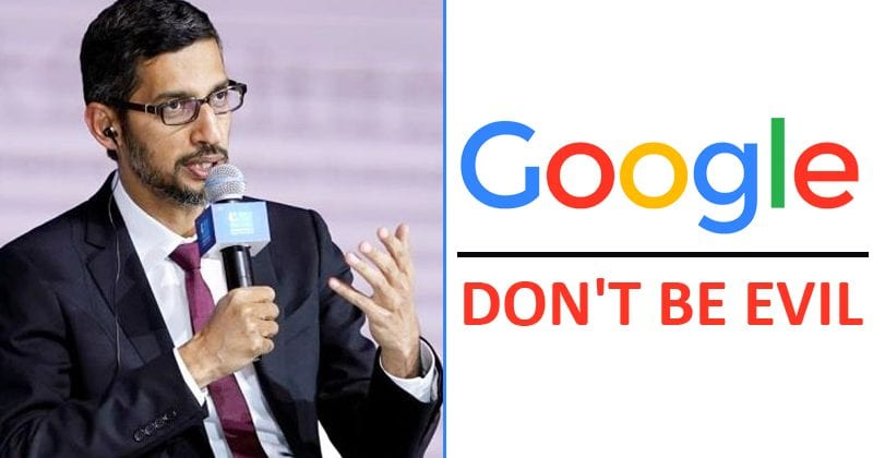 Google Drops Famous 'Don't Be Evil' Motto From Code Of Conduct