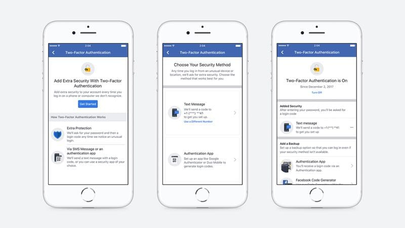 IMG 1 15 - Facebook: Two-Factor Authentication Will No Longer Require A Phone Number