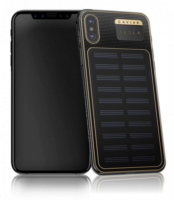 IMG 2 3 - Meet The $4,500 'iPhone X Tesla' With A Solar Panel