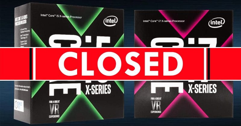 Intel KILLS Kaby Lake-X Less Than A Year After Launch