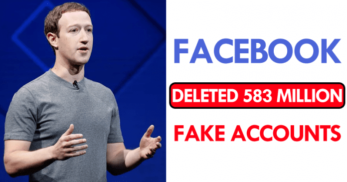 OMG! Facebook Deleted 583 Million Fake Accounts
