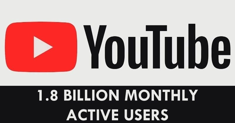 YouTube Now Has 1.8 Billion Monthly Logged-In Active Users