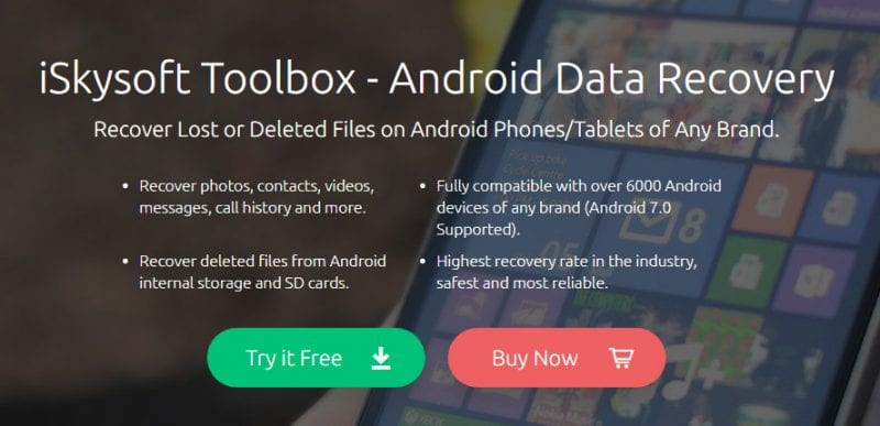 What is iSkysoft Toolbox - Android Data Recovery