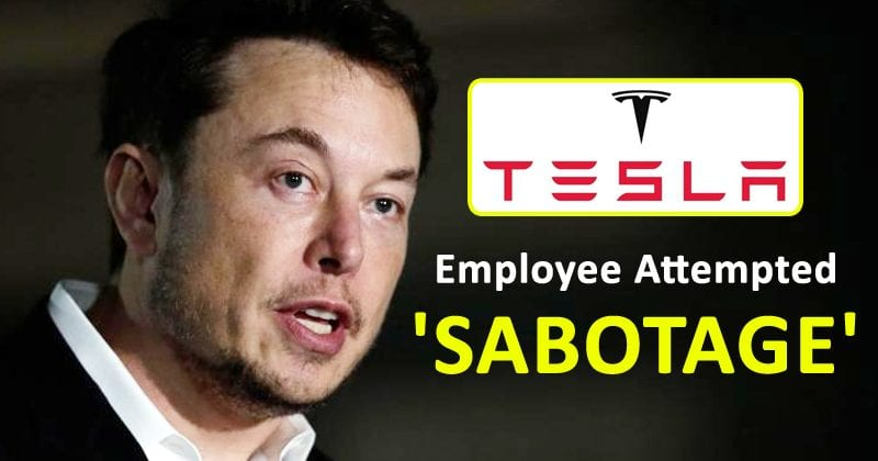 Elon Musk Claims Tesla Employee Attempted 'Sabotage'