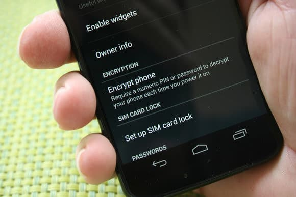 Encrypt Your Android smartphone
