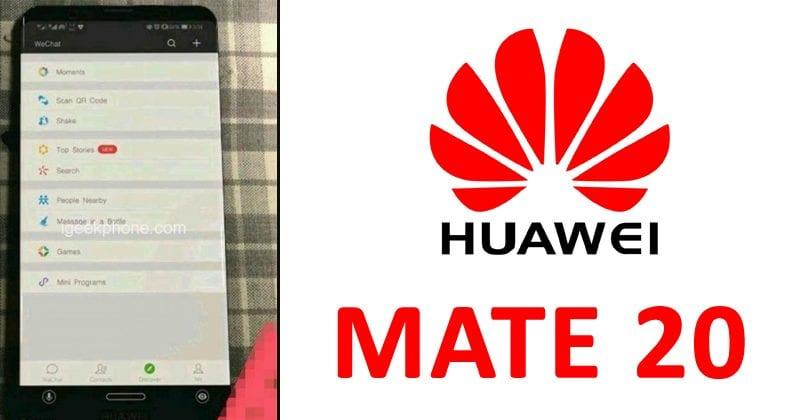 Huawei Mate 20 Leaks In Real-Life Image & Sketch