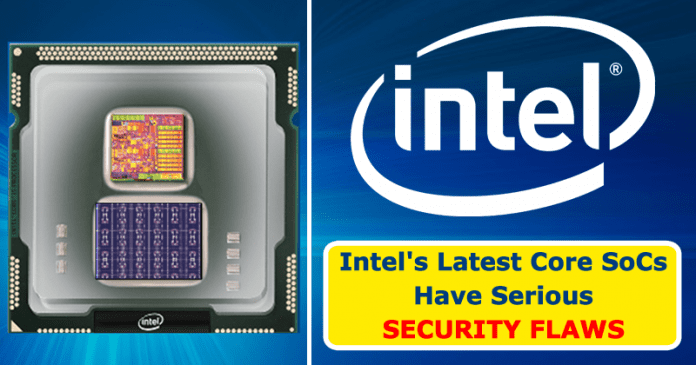 Lazy State - New Serious Chip Flaw Hits Intel Processors