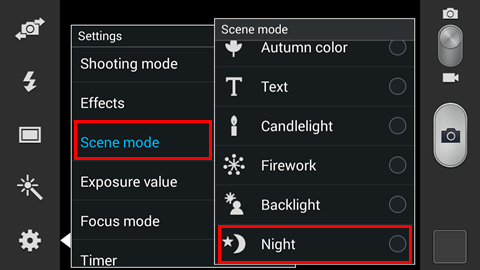 Use The Night Mode