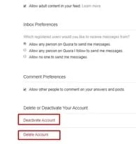 How To Delete Quora Account from Android and PC 20182 - How To Delete Quora Account from Android and PC 2018